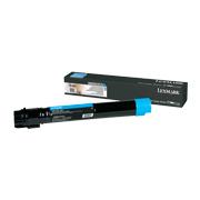 Cyan tonerkassett til Lexmark X950, X952 og X954