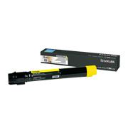Gul tonerkassett til Lexmark X950, X952 og X954