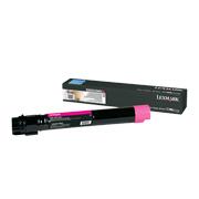 Magenta tonerkassett til Lexmark X950, X952 og X954