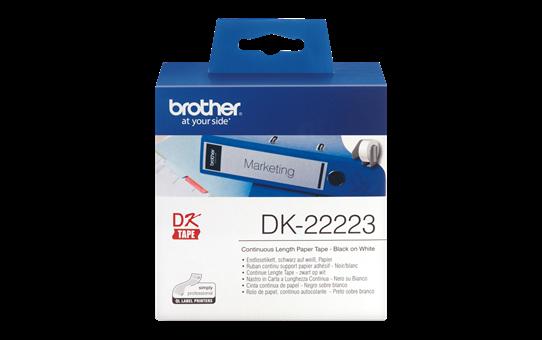 Orginal Brother DK22223 taperull i papir i løpende lengde – sort på hvit, 50 mm bred