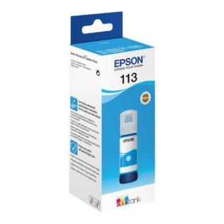 Epson 113 EcoTank Pigment Cyan ink bottle